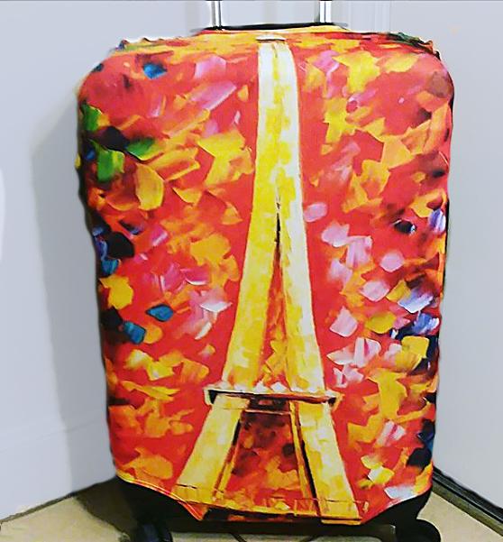 Bodacious suitcase cover brightens uptravel